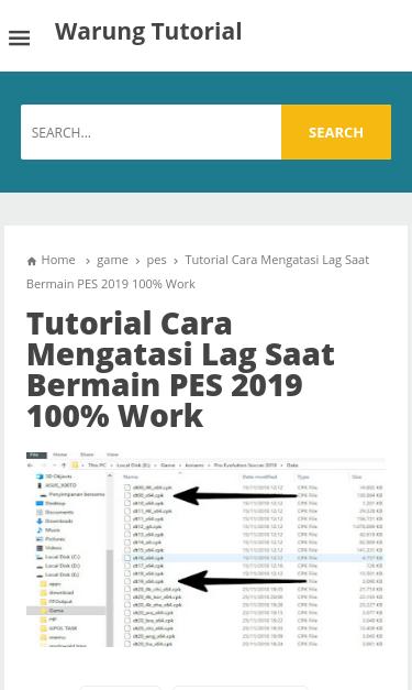 www.warungtutorial.com/2019/02/cara-mengatasi-lag-saat-main-pes ...