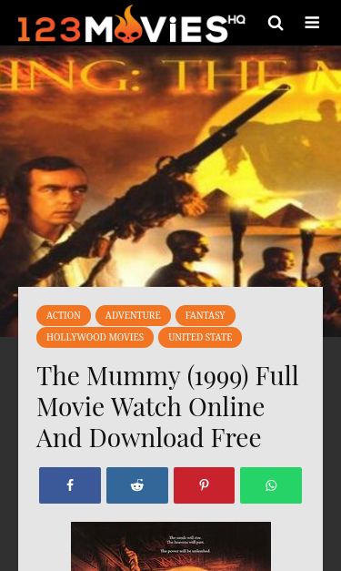 123movieshq Com The Mummy Full Movie Watch Online And Download Free Seo Report Seo Site Checkup