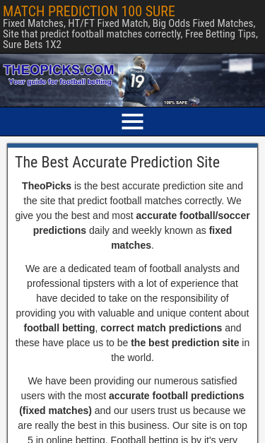 theopicks com SEO Report | SEO Site Checkup