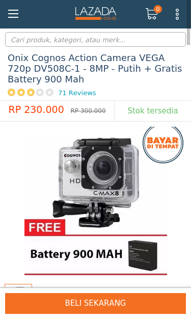www lazada co id onix cognos action camera vega 720p dv508c 1 8mp