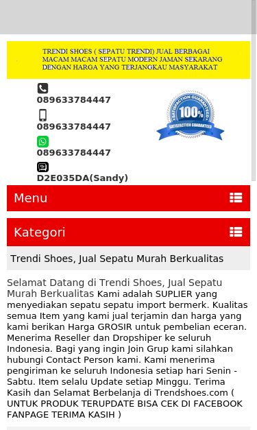 www.trendishoes.com SEO Report | SEO Site Checkup