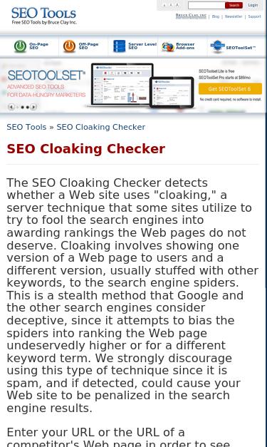 www seotools com/seo-cloaking-checker SEO Report | SEO Site