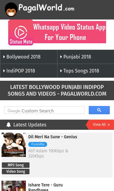 genius hindi mp3 song pagalworld.com