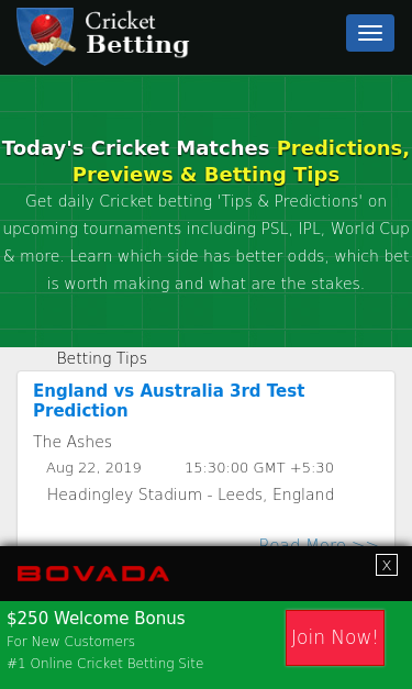 Cricket betting prediction sites melbourne cup 2021 results sports betting poker