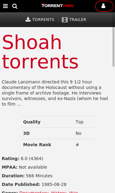 Torrentking Eu Movie 1985 1 Shoah Torrents Seo Report Seo Site Checkup