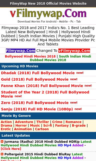 dhadak hindi movie filmywap download